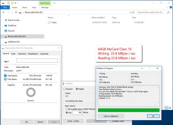 MemoryCard Speed test